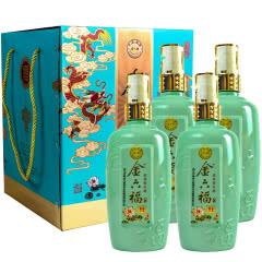 50°中国福酒 金六福 福乐康宁 浓香型高度白酒 500ml*4瓶礼盒装 套酒