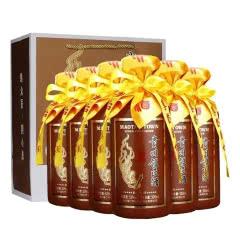 53°贵州领匠酒 五星名酱酒 收藏 送礼 宴会礼盒装酱香型白酒500ml*6【整箱】特惠