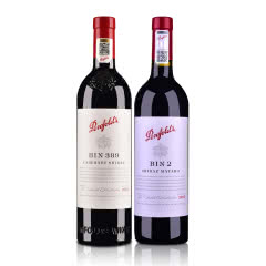 澳大利亚澳洲奔富Bin389赤霞珠西拉红葡萄酒750ml+澳大利亚奔富BIN2西拉玛塔罗干红葡萄酒750ml