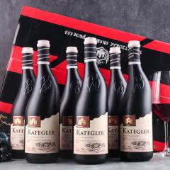【红酒礼盒】法国进口红酒雕花歪脖瓶红堡隆干红葡萄酒 整箱750ml*6瓶