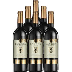 法国进口红酒整箱14度朗格巴顿金牌特卖干红葡萄酒750ml*6瓶装